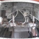 Blick in eine realistische Apollo-Kapsel