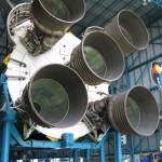 Triebwerke der erste Stufe der Mondrakete Staturn V