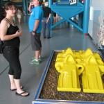 Kettenglieder des Transportfahrzeugs für das Space Shuttle